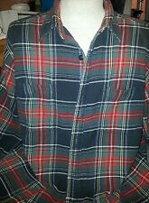 RALPH LAUREN POLO LONG SLEEVE WOMEN'S OR MEN'S COTTON FLANNEL SHIRT SIZE LARGE