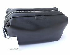 $65 NEW men's CALVIN KLEIN CK black dopp shaving kit travel toiletry bag