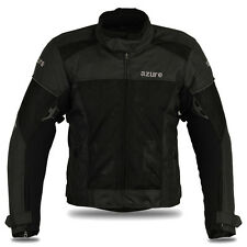 Motorcycle Motorbike Jacket Air Mesh Racing Protection Cordura Jacket Black, L