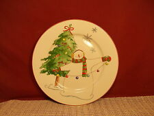 Thomson Pottery Snowy Snowman Dinner Plate 10 1/2""