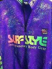 Surf Style Jacket One Size Purple Paint Splash Interplanetary Body Gear Zipper