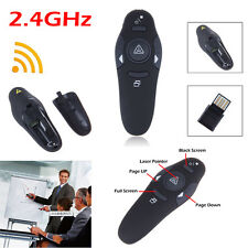 Wireless Laser Pointer PPT Presenter Remote Control With USB Plug-in Receiver