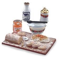 Reutter Porzellan Backbrett Orange Dessert Baking Set Puppenstube 1:12