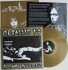 IGGY AND THE STOOGES 'Metallic KO' limited GOLD vinyl LP + gold poster Iggy Pop