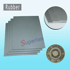 1 Sheet Rubber Grey 2.3mm for Laser Engraver Engraving Embossing Stamping Stamp