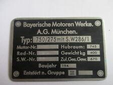 Plaque Bouclier BMW R 75 275/750 R75 Armée allemande WW 2 2.WK s21 Moto Krad