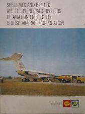 9/1963 PUB SHELL BP AIRPORT BAC ONE ELEVEN BRITISH UNITED CAMION CITERNE AD
