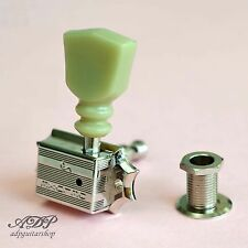 MECANIQUES SCHALLER TULIPES 3L+3R Gserie Keystone Double Ring Nut NICKEL Tuners