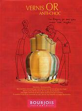 Publicité Advertising 1998  BOURJOIS vernis OR anti choc ongles beauté