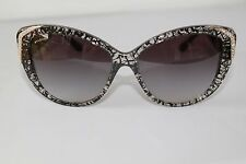 Bvlgari Womens Sunglasses BV8151BM 53768G 57M Cat Eye Black Frame/Grey Lens NEW