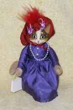 Heather Hykes Cat Nip Collection Shop Till You Drop Lady Dress, Hat, Pearls GUC