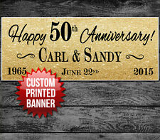 """50TH 25th WEDDING ANNIVERSARY PARTY BANNER DECORATION 48"""" x 24"""""""