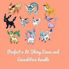 Pokemon Guide- Shiny 6IV Eevee and Eeveelution 10 Pokemon bundle