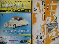 FASCICULE  73  RENAULT COLLECTION  VIVA GRAND SPORT ACX2 CABRIOLET AVEC INSERT