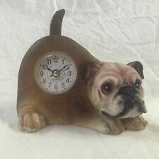 LABOR DAY SALE!!  Critter Clock Bulldog Tabletop Wagging Tail Puppy Dog