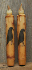 """2 ~ Beeswax 6-3/4"""" Crow TIMER Candles ~ Battery Operated"""