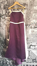 Forever Yours dress (Eggplant-Ivory) Bridesmaid, Flowergirl, Party,RRP £100+