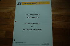 CATERPILLAR TOWMOTOR Lift Truck Forklift Training Manaul Sales Brochure cat book