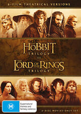 Middle Earth DVD Box Set The Hobbit Trilogy & The Lord of The Rings Trilogy R4