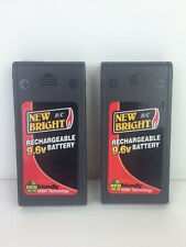 2x 9.6V NiMH New Bright Battery Pack 9.6 Volt
