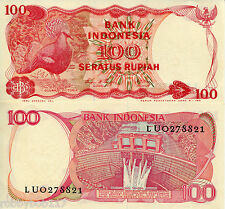 INDONESIA 100 Rupiah Banknote World Paper Money UNC Currency Pick p-122b Bird