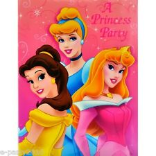 (16) DISNEY PRINCESS PARTY INVITATIONS Cinderella ~ Birthday Supplies tarjetas