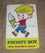 retro FROSTY BOY TIN SIGN ice cream cone vintage Australian milk bar diner deli