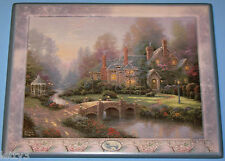 NEW Thomas Kinkade 2000 BEYOND SPRING GATE 10th Issue Collector Plate Box w/COA