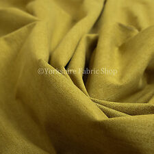 10 Metres Quality Highland Wool Effect Chenille Curtain Upholstery Yellow Fabric