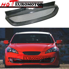 Carbon Fiber Front Mesh Grille Grill for Hyundai 2008-2010-2012 Genesis Coupe
