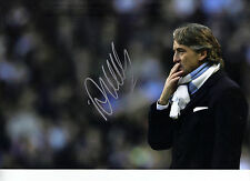 Roberto Mancini Signed 12X8 Photo GENUINE Manchester City AFTAL COA (1545)