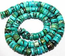 """3x7mm Natural Blue Turquoise Heishi Beads 16"""""""