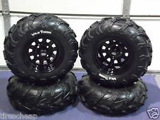 "HONDA RANCHER 420 (SRA) 25"" WILD THANG ATV TIRE ITP BLACK ATV WHEEL KIT COMPLETE"