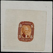 #67-E3a SUPERB DIE I ESSAY ON PROOF PAPER (RED BROWN) BQ4729
