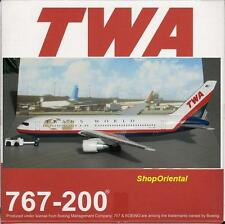 DRAGON WINGS TWA B 767 1:400 DIECAST Commercial Plane & AIRPORT GSE Model 55560