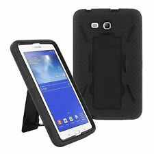 Black 2in1 Hybrid Case Skin Cover For Samsung Galaxy Tab E Lite 7.0 / 3 7""