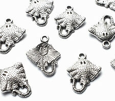 10 x 20mm Silver Stingray Fish Sea Creature Charms Embellishments Nautical Craft