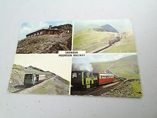 VINTAGE SNOWDON MOUNTAIN RAILWAY  POSTCARD