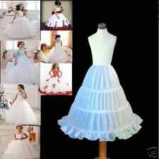 Wedding Party Formal Flower Girls Dress petticoat Underskirt skirts lining