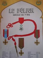 Revue le Belier Amicale du 7em RTA  N)° 19 année 2000