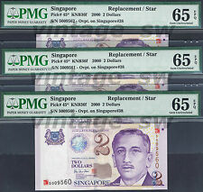 2000 SINGAPORE PORTRAIT $2.00 HTT 5009560-62 P-45* | PMG 65 EPQ *REPLACEMENT*