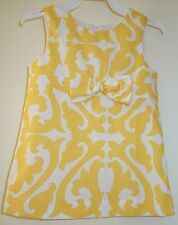 New In Bag ~ Kelly's Kids Nikki Yellow Damask Dress Girl's 2 ~ Pretty