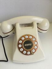 Conair Metropolis Retro Style Push Button Rotary Design Phone White