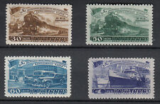 1948 RUSSIA URSS CCCP PIANO TRASPORTI 4 VALORI NUOVI MNH**  EXTRA LUSSO