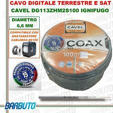 50 Mt CAVO TV & SAT CAVEL DG113ZH DIAMETRO 6,6mm DIGITALE TERRESTRE COASSIALE HD