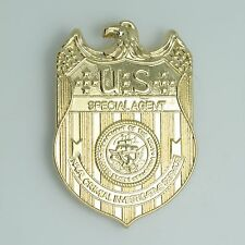 Novelty NCIS Full Metal Golden 18k Plated Replica Waist Badge Pin Brooches US