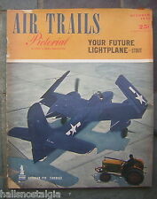 Oct. 1945 AIR TRAILS Street & Smith Pictorial - Gruman F7F Tigercat cover