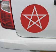 Pentagram pentacle pantacle symbol vinyl car decal sticker #1 (sml) - DEC1067