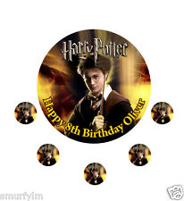"""HARRY POTTER CAKE TOPPER PARTY PERSONALISED  ICING SUGAR 7.5"""""""