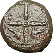 Syracuse Sicily 425BC Ancient Greek Coin  Nymph Arethusa DOLPHINS i24875